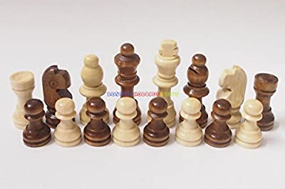 New Wooden Chess Set 32 Pieces - King 5.3cm Ht. (Pieces Only) Total Weight 90g