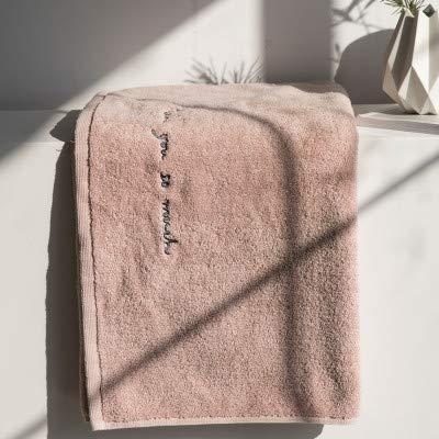 WLLLO Toalla de algodón Absorbente Grueso, Toalla de los Amantes, Bordado inglés, Toalla de Color Puro, Toalla de Cara, Algodón Puro, 35X75Cm D: Amazon.es: ...