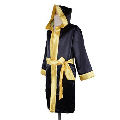 (Wraith of East Kids Boxing Costume Apollo American Flag Robe Boy Cosplay Kickboxing Hoodie Italian Stallion Robe+Belt,)