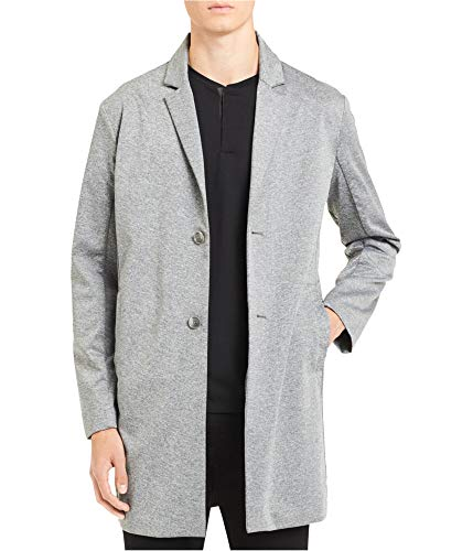 Calvin Klein Mens Unstructured Trench Coat, Grey, Large ()