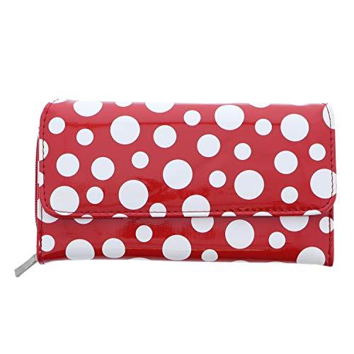 - Polka Dot Multi Pocket Wallet Organizer-Red