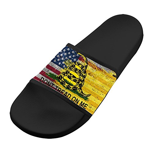 3D Printed Slippers Antiskid House Comfy Flip-flop American Flag Shoes Open Toe Flat Sandals Adults 12 B(M) US from LLSUSLP