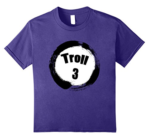 Girl Group Of 3 Halloween Costumes - Kids Troll 3 Halloween Group Costumes Trick or Treat T-shirt 8 Purple