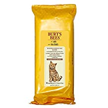 Burt's Bees for Cats Dander Reducing Wipes with Colloidal Oat Flour and Aloe Vera