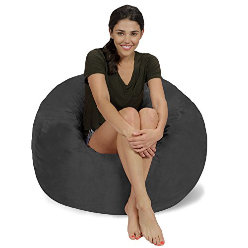 Chill Sack Bean Bag Chair: Large 3' Memory Foam Furniture Bean Bag -...