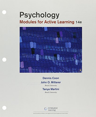 Bundle: Psychology: Modules for Active Learning, Loose-Leaf Version, 14th + MindTap Psychology, 1 term (6 months) Printed Access Card ()