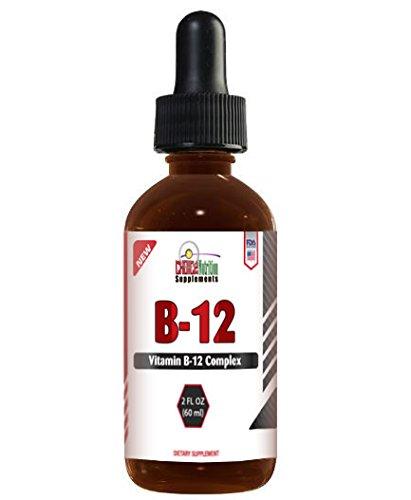 La vitamine B 12 Complexe sublinguale gouttes de liquide 2 once Vitamines et suppléments alimentaires