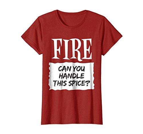 Womens Fire Shirt Hot Sauce Packet Taco Easy Halloween Costume Medium Cranberry -