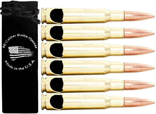 50 Caliber BMG Real Bullet Bottle Opener - Set of 6 - Made in the USA by ExotoUSA