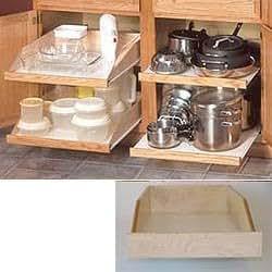 """Slide-A-Shelf - Kitchen/Pantry, Set of Two (Maple) (4"""" H x 13.75"""" W x 21.5"""" D)"""