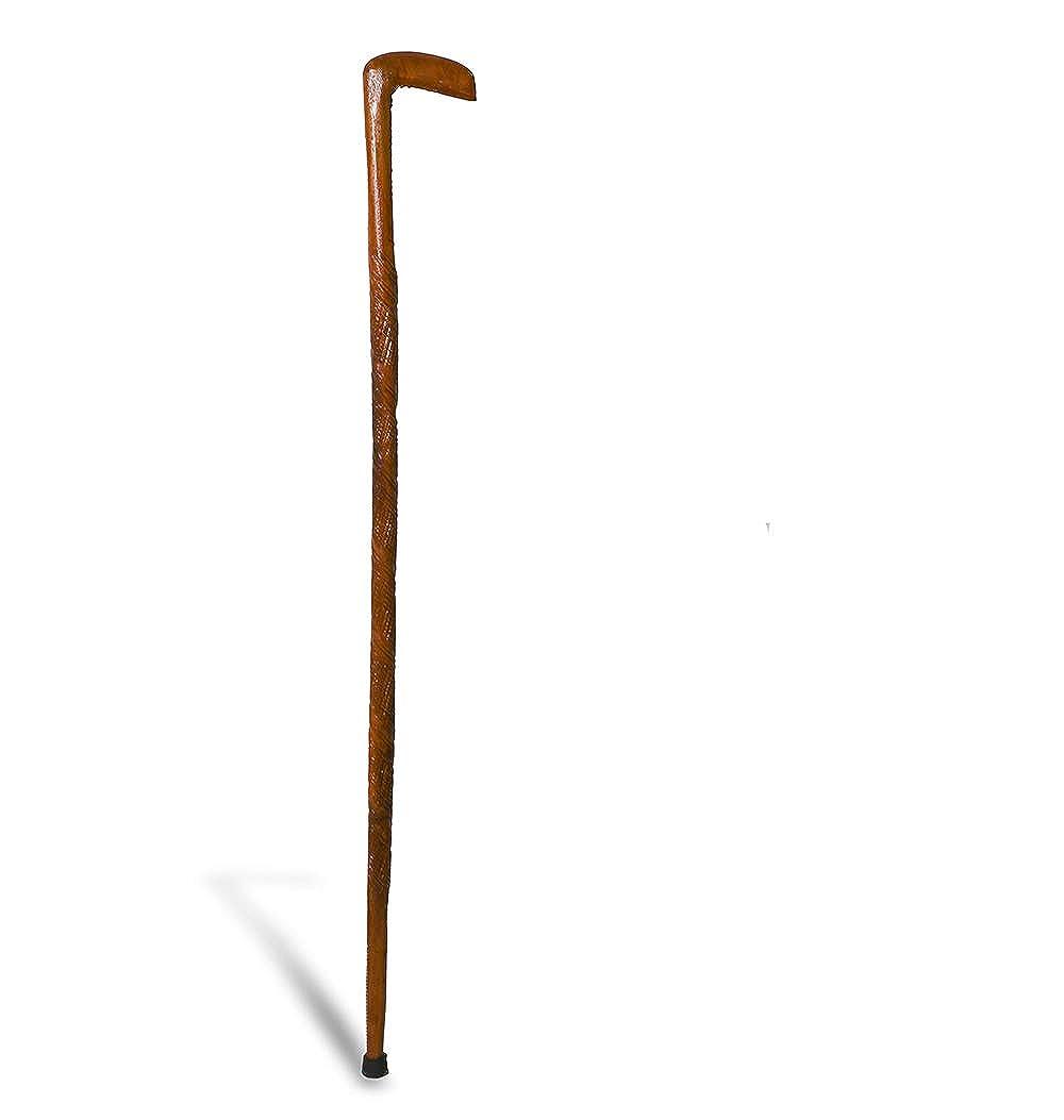 Arsimus Renaissance LARP Wooden Walking Cane Brown