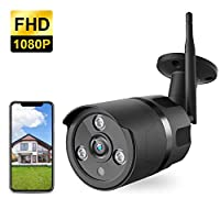 Outdoor Camera – 1080P WiFi Outdoor Security Camera, FHD Night Vision, A.I. Motion Detection, Instant Alert via Phone, 2-Way Audio, Live Video Zooms Function, Cloud Storage/Micro SD Card