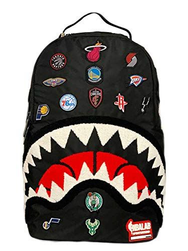 Sprayground Unisex NBA All Over Logo Black Backpack - One Size Fits All