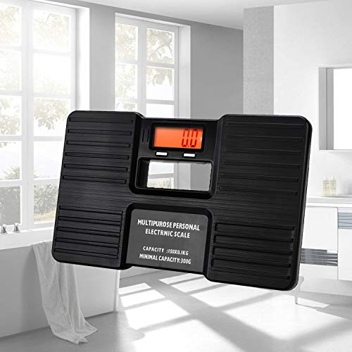Small Digital Body Weight Bathroom Scale For Travel Dorm Home Office, 0.8lb~330lb/0.3KG~150KG