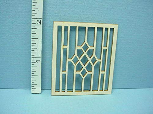 Dollhouse Miniature Decorative Window Mullion #AW Laser Creations 1/12th Scale