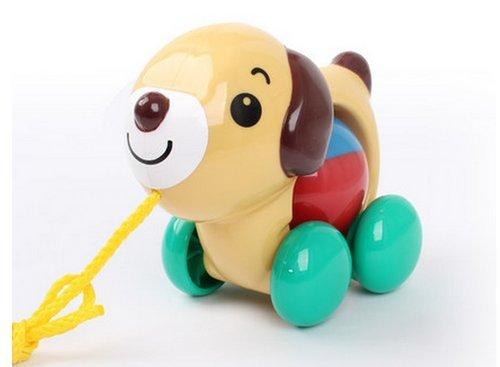 The Best U Want 1 Pcs Baby Toddler Pull Toys Puppy,Exercise Your Baby Hearing And Reaction,Made Of High Quality Material Manufacturing,Safety And Environmental Protection,Children's Educational Toys