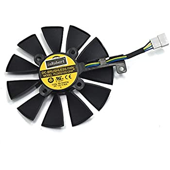 inRobert PLD09210S12HH Video Card Cooling Fan For ASUS STRIX R9 390 X 390 RX480 RX580 GTX 980Ti 1060 1070 1080 Graphic Card (Fan-C(4pin))
