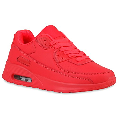 Stiefelparadies Damen Herren Laufschuhe Unisex Metallic Sportschuhe Sportliche Sneaker Camouflage Turnschuhe Glitzer Leder-Optik Schuhe Flandell Coral Carlton