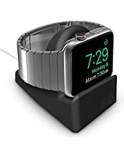 Orzly Charging Stand for Apple Watch Series 5 / Series 4 / Series 3/2 / 1 44mm / 42mm / 40mm/ 38mm - Nightstand Mode Edition