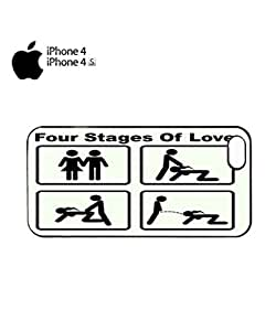 Four Stages of Love Mobile Cell Phone Case Cover iPhone 4&4s Black