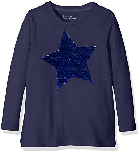 Esprit Kids Mädchen T-Shirt RI1005D, Blau (Dunkelblau 405), 104