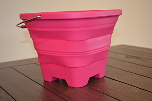 Packable Pails Collapsible Beach Pail 4l Pink