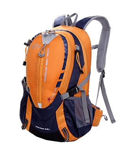 0a6f08f1b9f7 LOCAL LION Outdoor Sports Hiking Climbing Cycling Layered Backpack Knapsack  Back Bags Athletic Adventure Camping Travel Activities 25L (Orange) ...