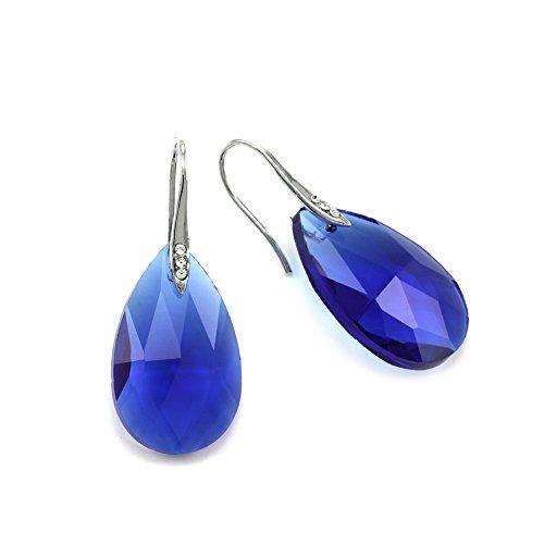 Blue Fashion Jewelry (Chandelier Teardrop Drop Prom Earrings Dangle Drop Fashion Jewelry (Royal Blue))