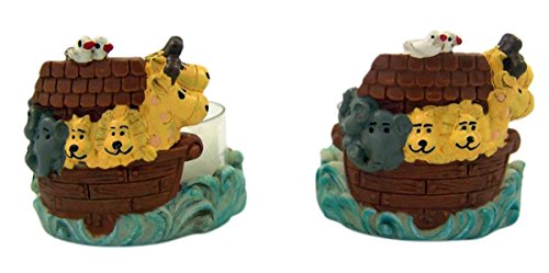 Adorable Noah's Arc Themed Tea Light Candleholders, Pack of (Arc Candle Holder)