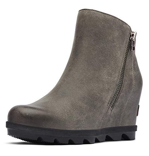 Sorel - Women's Joan of Arctic Wedge II Zip Ankle Boot, Quarry, 8 M US