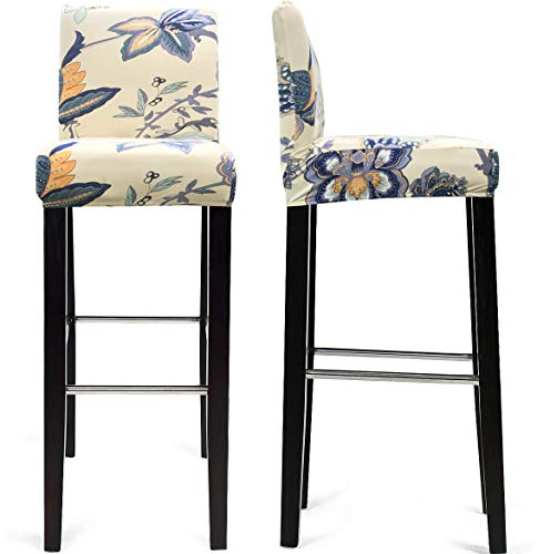 MOCAA Dining Chair Covers,Bar Stool Chair Covers, Barstool Slipcovers 2 Pack (Style - Stools Dining Bar Chairs
