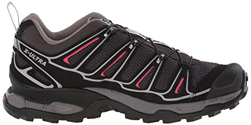 Salomon X Ultra 2 - Zapatos de Low Rise Senderismo Mujer Gris (Asphalt /         Black /         Hot Pink)