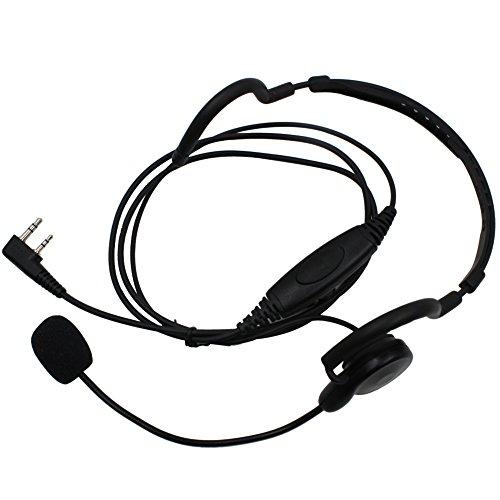 Kenmax 2 Pin Mic Ptt Headset Earpiece Unilateral Head Wearing