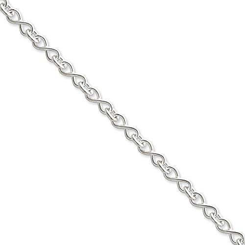 Roy Rose Jewelry Sterling Silver Solid Polished Fancy Figure-8 Link Necklace 20'' length