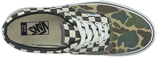 Vans U ERA - Suede 2tone Unisex-Erwachsene Sneaker Verde (Van Doren Camo/White Checker)