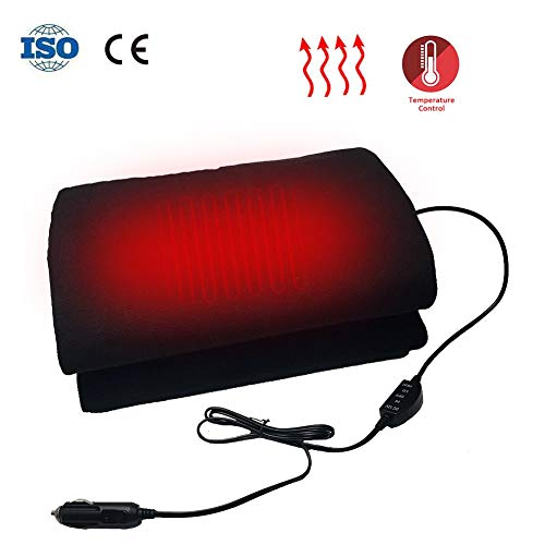 12 Volt Car Electric Heating Blanket, Cashmere Worsted Cloth Emergency Thermal Blanket Travel Blanket for Road Trips, Camping 150x100cm