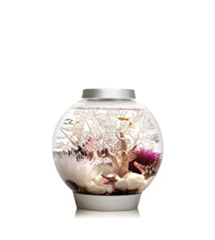 biOrb CLASSIC 15 Aquarium with LED Light  4 Gallon Silver