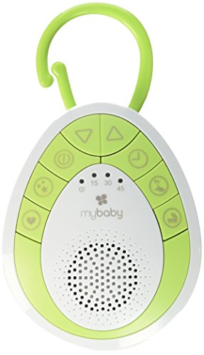 myBaby Soundspa On-the-Go, Plays 4 Soothing Sounds, Includes Clip For Strollers, Diaper Bags, Car Seats, Cribs, Auto-off Timer, Lightweight, Perfect for Busy Moms, MYB-S110
