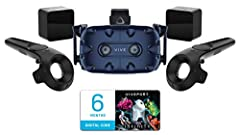 VIVE Pro is the most capable and fully featured virtual reality system VIVE has ever made. Designed to meet the needs of today's most demanding VR users - from expansive office environments and crowded arcades, to the comfort of your living r...