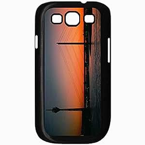 Unique Design Fashion Protective Back Cover For Samsung Galaxy S3 Case Evening Tower Bridge Black