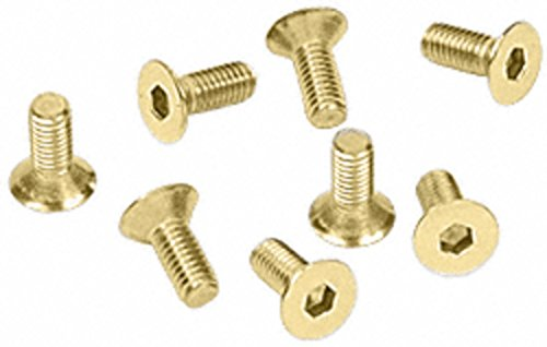 C.R. LAURENCE A612SB CRL Satin Brass 6 mm x 12 mm Cover Plate Flat Allen Head Screws