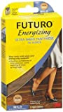 Futuro Energizing Women's Mild French Cut Lace Panty Ultra Sheer Pantyhose Size Plus Nude - 1 Pair, Pack of 3