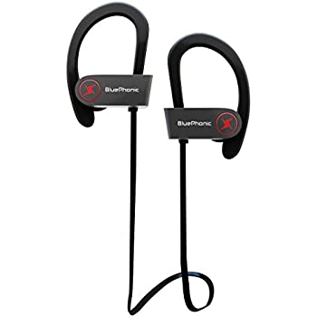 ... Sound Quality - Sweat Proof Stable Fit In Ear Workout Earbuds - Ergonomic Running Earphones - Noise Cancelling Microphone w/ Travel Case - by Bluephonic