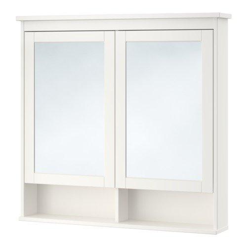 Ikea Mirror cabinet with 2 doors, white 40 1/2x6 1/4x38 5/8 -
