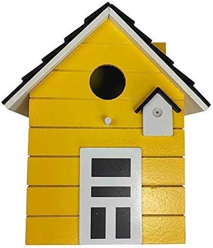CasaJame Hogar Accesorios Decoración Jardín Casa para Pájaros Amarillo 17x12x20cm: Amazon.es: Jardín