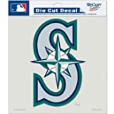 "MLB Seattle Mariners Die-Cut Color Decal, 8""x8"", Team Color"