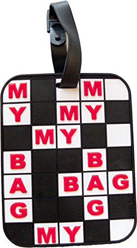 Luggage Tag Crossword Puzzle 3-D My Bag Heavy duty Luggage ID - Shops Ny 5th On Avenue