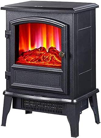 Calentador eléctrico Chimenea Estufa 2000W con fuego llama efecto, Arco de diseño, autoportante portátil de registro eléctrico estufa de leña Effect.Mobile durable del hogar Calefacción para la sala