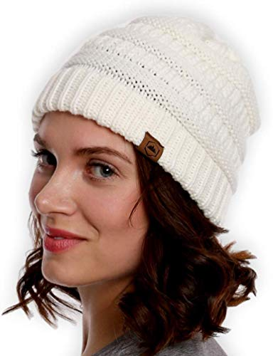 - Tough Headwear Cable Knit Beanie - Thick, Soft & Warm Chunky Beanie Hats for Women & Men - Serious Beanies for Serious Style