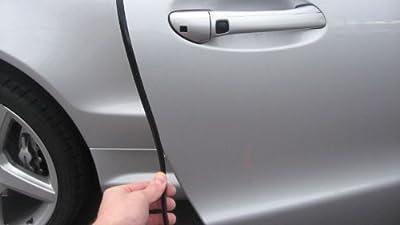 TRUE LINE Automotive Black Door Edge L Shape Molding Kit with 3M Tape